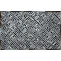 SIT-Möbel THIS & THAT Teppich graues Karo-Muster graue Karos