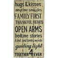 SIT-Möbel THIS & THAT Wall-Art Hugs & Kisses bunt