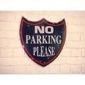 "SIT-Möbel THIS & THAT Wall-Art No Parking"" blau bemalt"