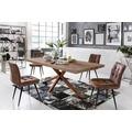 SIT-Möbel TISCHE Tisch 220x100 cm, Balkeneiche natur geölt  Platte natur, Gestell antikbraun