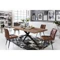 SIT-Möbel TISCHE Tisch 240x100 cm, Balkeneiche natur geölt  Platte natur, Gestell antikschwarz