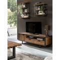 SIT-Möbel TOBA Lowboard 1 Tür, 2 Schubladen, 1 offenes Fach natur mit schwarz