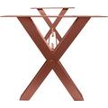 SIT TOPS & TABLES Tischgestell x-Beine antikbraun für Platten von 180 bis 240 cm antikbraun