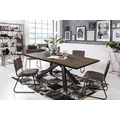 SIT Tisch, 180x100 cm, Platte Balkeneiche geölt, Gestell Metall antikschwarz