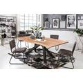 SIT Tisch 180x90 cm, Platte Akazie, Gestell Metall antikschwarz