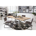 SIT Tisch 180x90 cm, Platte Mango massiv, Gestell Metall antiksilber