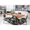 SIT Tisch 220x100 cm, Platte Akazie massiv Gestell Metall antikschwarz