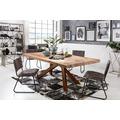 SIT Tisch, 220x100 cm, Platte Teak, Gestell Metall antikbraun