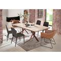 SIT Tisch 240x100 cm, Platte Balkeneiche, Gestell Metall antikbraun