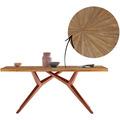 SIT TISCHE & BÄNKE Tisch, 240x100 cm, Platte recyceltes Teak, M-Gestell Metall antikbraun