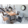 SIT TISCHE Tisch 180 x 90 cm, Platte 36 mm natur, Gestell schwarz mit Baumkante wie gewachsen