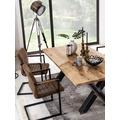 SIT TOPS & TABLES Tischgestell Roheisen used look für Platten von 180 bis 240 cm, klar lackiert