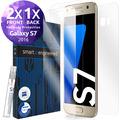 smart engineered 3D Schutzfolien für Samsung Galaxy S7, 2x Premium HD Displayschutzfolien, 1x Folie Rückseite