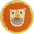 smart kids Kinderteppich Linus SM-4351-01 orange 100 rund