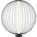 Sompex Tischleuchte Atomik LED schwarz D 50cm H 52cm
