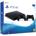 Sony PlayStation 4 PS4 slim Konsole 1TB, jet black inkl. 2. Controller