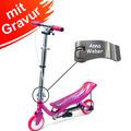 Space Scooter X360 pink/rosa Junior MIT GRAVUR (z.B. Namen)