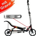Space Scooter X580 schwarz MIT GRAVUR (z.B. Namen)