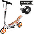 Space Scooter X580 weiss + Tretroller & Scooterklingel