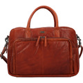 Spikes & Sparrow Wickeltasche Leder 42 cm Laptopfach brandy