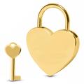 Sterngraf Schloss Herz mit Schlüssel Liebesschloss Herzschloss Vorhängeschloss Farbe: gold