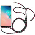 Stilgut Hybrid Necklace Case for Galaxy S10 clear