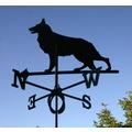 SvenskaV Wetterfahne Schäferhund, Stahlblech schwarz pulverbeschichtet, groß