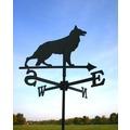 SvenskaV Wetterfahne Schäferhund, Stahlblech schwarz pulverbeschichtet, klein