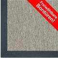 Astra Outdoor/Küchenteppich Sylt Design 806 silber Farbe 040 Wunschmaß mit Polypropylen-Bordüre