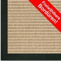 Astra Outdoor/Küchenteppich Sylt, Design 807 beige, Farbe 001 Wunschmaß mit Polypropylen-Bordüre