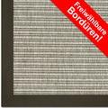 Astra Outdoor/Küchenteppich Sylt, Design 807 silber, Farbe 040 Wunschmaß mit Polypropylen-Bordüre