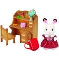 Sylvanian Families Schokoladenhasen Schwester mit Schreibtisch