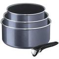 Tefal Ingenio Elegance Kasserollen-Set + Griff (Ø 16, 18, 20 cm) Grau-Blau