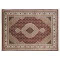 THEKO Teppich Sirsa Mahi Silk touch Tabriz Ma 562 rot / creme 70 x 140 cm
