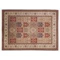 THEKO Teppich Sirsa Silk touch Bakt. N 562 rot / creme 140 x 200 cm