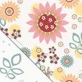 Theraline Bezug für das Original Schwangerschafts-& Stillkissen Sommerblüten 190 x 38 cm (Dessin 80)