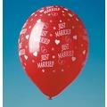 "TIB Heyne Luftballons mit Druck ""Just Married"", rot, 100 Stück"