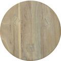 TINGO LIVING ALPINE Hocker rund, 28/45 cm, Teak vintage-grau