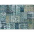 TINGO LIVING MEDLEY Teppich, 240x170 cm, Patchwork blau/beige