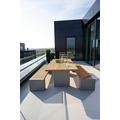 TINGO LIVING PARALLELS Sitzbank, 224x51/43 cm, Teak natur/natur-beton