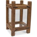 TINGO LIVING TURRIM, Laterne, 25x25/40 cm, Teak recycelt