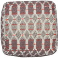 "Tom Tailor Pouf Smooth Comfort ""Small Pattern"", red 50cm x 50cm"