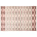 "Tom Tailor Handwebteppich Smooth Comfort ""Small Pattern"", rot 65cm x 135cm"