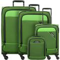 travelite Derby 4-Rollen Kofferset 4tlg. grün