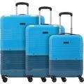 travelite Frisco 4-Rollen Kofferset 3tlg. petrol blau