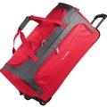 travelite Garda XL Reisetasche groß mit Rollen mit Trolley-Funktion 72 cm rot anthracite