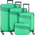 travelite Kite 4-Rollen Kofferset 4tlg. grasgrün