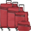 travelite Kite 4-Rollen Kofferset 4tlg. rot