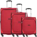 travelite Nida 4-Rollen Kofferset 3tlg. rot