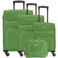 travelite Orlando 4-Rollen Koffer Set 4-tlg. grün